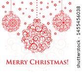 christmas card vector... | Shutterstock .eps vector #1455456038