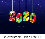 2020 happy new year background... | Shutterstock .eps vector #1455475118