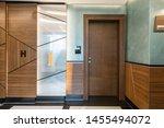 hotel interior carpeted... | Shutterstock . vector #1455494072