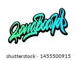 longboard. handwritten vector... | Shutterstock .eps vector #1455500915