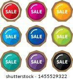 design colorful sale label... | Shutterstock .eps vector #1455529322