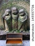buddhist jizo statues in suma ...   Shutterstock . vector #145557736