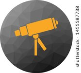 telescope on stand icon for... | Shutterstock . vector #1455587738