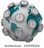 Many Clocks Around The World T...