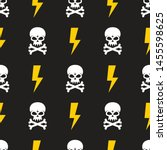 Human Skull And Lightning On...