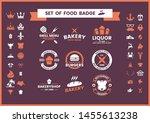 restaurant vintage vector for... | Shutterstock .eps vector #1455613238
