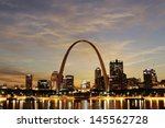 st. louis   may 9  city of st.... | Shutterstock . vector #145562728