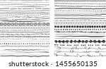 set of hand drawn line borders  ... | Shutterstock .eps vector #1455650135