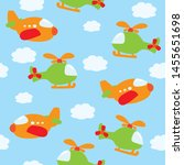 kids seamless pattern of... | Shutterstock . vector #1455651698