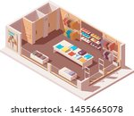 vector isometric clothing store ... | Shutterstock .eps vector #1455665078