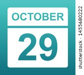 october 26. white calendar on a ... | Shutterstock .eps vector #1455680222