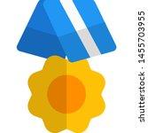 ribbon with flower shape medal... | Shutterstock .eps vector #1455703955