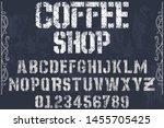 typeface alphabet font script... | Shutterstock .eps vector #1455705425