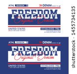freedom typography slogan usa... | Shutterstock .eps vector #1455734135