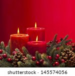 Red Advent Flower Arrangement...