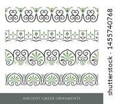 set of decorative ancient greek ...   Shutterstock . vector #1455740768