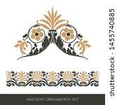 set of decorative ancient...   Shutterstock . vector #1455740885