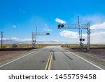 Railroad Crossing Gates On A...