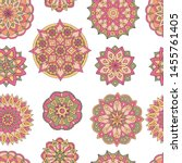 abstract seamless pattern of... | Shutterstock .eps vector #1455761405