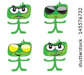 funny green people vector art... | Shutterstock .eps vector #145576732