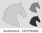 Mesh Horse Head Model With...