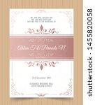 luxury vintage pink vector... | Shutterstock .eps vector #1455820058