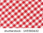 Tablecloth Red And White...