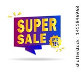 sale banner design. super sale... | Shutterstock .eps vector #1455846968