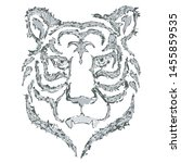 tiger decorative line grunge... | Shutterstock .eps vector #1455859535