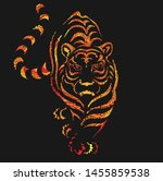 tiger decorative line grunge... | Shutterstock .eps vector #1455859538
