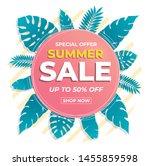 summer sale banner modern... | Shutterstock .eps vector #1455859598