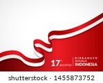17 august 1945  happy indonesia ... | Shutterstock .eps vector #1455873752