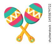 mexican maracas traditional... | Shutterstock .eps vector #1455879722