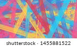 retro style oil drawing. 2d... | Shutterstock . vector #1455881522