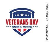 design vector template veterans ... | Shutterstock .eps vector #1455884588