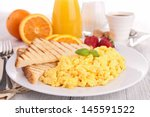 fried egg and toast | Shutterstock . vector #145591522