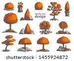 big set of hand drawn stylish...   Shutterstock .eps vector #1455924872