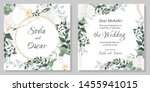 vector floral template for... | Shutterstock .eps vector #1455941015