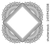 decorative monochrome pattern... | Shutterstock .eps vector #1455942038