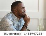dreamy calm african american... | Shutterstock . vector #1455947285