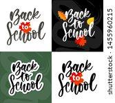 set of welcome back to school... | Shutterstock .eps vector #1455960215
