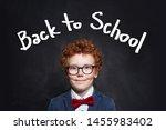 handsome redhead child boy in...   Shutterstock . vector #1455983402