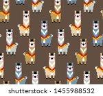 8 bit pixel llama alpaca. ... | Shutterstock .eps vector #1455988532