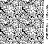 black and white ornate seamless ... | Shutterstock .eps vector #145599202