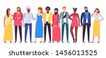 multiethnic people group.... | Shutterstock .eps vector #1456013525