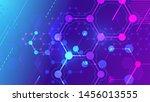 color molecular structure.... | Shutterstock .eps vector #1456013555