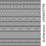 set of white borders on a gray...   Shutterstock . vector #1456019798
