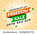 freedom sale on independence... | Shutterstock .eps vector #1456056755