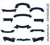 navy blue and red ribbon set... | Shutterstock .eps vector #1456068128