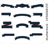 navy blue and red ribbon set... | Shutterstock .eps vector #1456068155